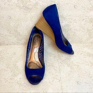 Dexter Comfort Women's Blue Wedge Heels Size 8.5